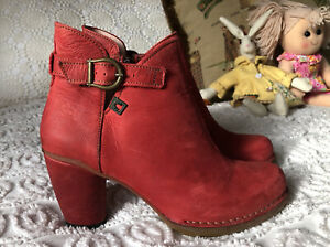 El Naturalista Spain Leather Ankle Boots Booties Side Zip Size 36 Brand New Cond