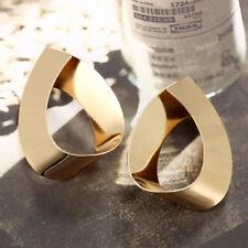 Unique Women Gold Plated Geometric Stereoscopic Water Drop Ear Stud Earrings