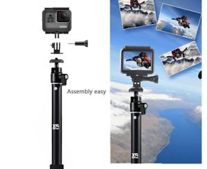 Selfie Stick Adjustable Telescoping Monopod Pole for Gopro Hero 8 7 Hero 6/ 5/3+
