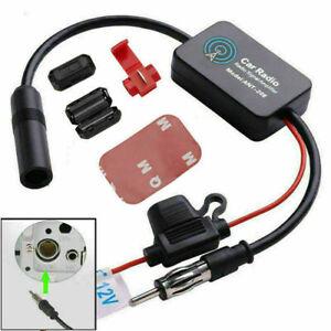 Universal AutoRadio Antennenverstärker AM/FM Antenne Signal Verstärker 12V KFZ