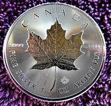 """Silbermünze, 1 Oz Feinsilber, Canada """"Maple Leaf"""", Bullion-Münze"""