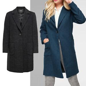 Marken klassischer Mantel Gr.40 L Übergangsmantel Jacke GRAU SCHWARZ meliert