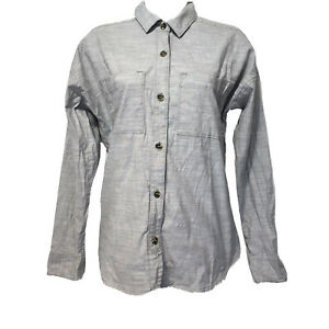 Mountain Hardware Gray Button Front Long sleeve shirt Womens Size S