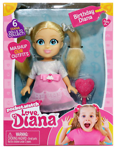 "Love Diana, Birthday Diana 6"" Doll with Brush"