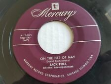 JACK FINA - The Lamp Is Low / On The Isle Of May RARE 1950's Mercury Jazz Pop 7""