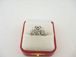 Ladies Platinum Diamond Engagement Ring .84cts Remount Size 6 1ct Center Stone