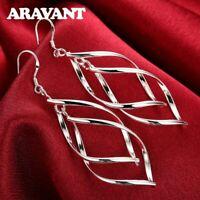 Ohrringe Ohrhänger 925 Silber Spirale modern Hakenverschluss NEU