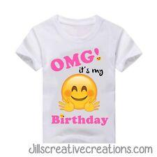 Emoji Birthday Shirt, T-shirt, Emoji, Emoji Shirt, Personalized t-shirt