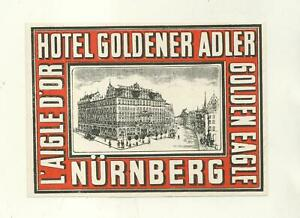 HOTEL GOLDENER ADLER NURNBERG LUGGAGE LABEL