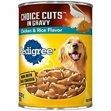 PEDIGREE CHOICE CUTS in Gravy Adult Canned Soft Wet Meaty Dog Food Chicken & Ric