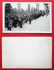 Foto AK SACHSEN um 1935 Militär Musiker Kapelle vor Brücke    ( 24784