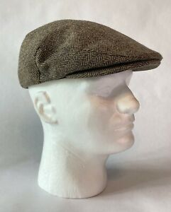 Brixton Hooligan Snap Cap Brown/Khaki Herringbone Size S Drivers Cap Newsboy