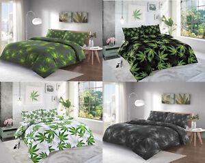 Cannabis Leaf Poly/cotton Duvet Cover+Pillowcase Bedding set