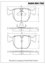 Dash 4 Brake CD681 Front Ceramic Brake Pads