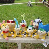 7Pcs Super Mario Larry Iggy Lemmy Roy Ludwig Wendy Morton Kooopalings Plush Toy