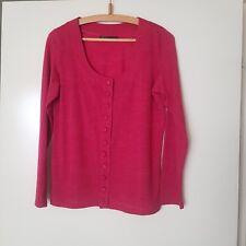 David Lawrence Raspberry Wool Cardigan Size S