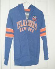 New York Islanders Old Time Hockey Royal Blue Kids Large Full Zip Hoodie New