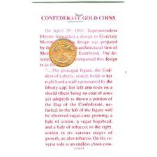 CIVIL WAR CSA CONFEDERATE STATES OF AMERICA $5. GOLD COIN RE STRIKE  MINT 70113