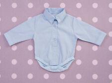Baby Boy Blue White Smart Bodysuit Body Shirt Baptism Christening Birthday 0-18M