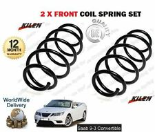 FOR SAAB 9-3 93 CABRIO 1.8 2.0 TURBO 2003-> NEW 2 x FRONT COIL SPRING SET