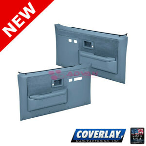 Light Blue Replacement Door Panels L + R For Chevy Suburban Coverlay 18-35S-LBL