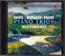 DEBUSSY FAURE RAVEL Klaviertrio TRIO FONTENAY Teldec CD Premier Piano Trio 1992