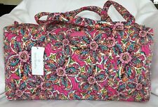 VERA BRADLEY Small Duffel Weekend Bag - Sunburst Floral Pink - New with Tag