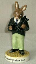 "Royal Doulton Bunnykins Alexander Graham Bell Figurine Db 436 Ltd 1000 5"" N0112"