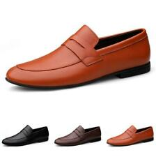 Men Pointy Toe Oxfords Business Slip on Party 44 Low Top Leisure Leather Shoes D