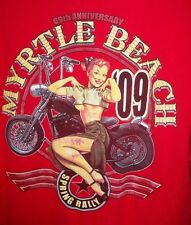 69th Anniversary Myrtle Beach Spring Rally 09 Motorcycle Pin Up Girl TShirt M/L