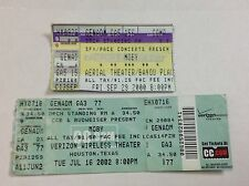 Lot of 2 Vtg Moby 2000 2002 Concert Ticket Stubs Houston Texas