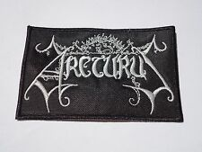 ARCTURUS EMBROIDERED LOGO BLACK METAL PATCH