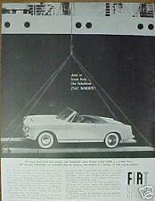 1960 Fiat Spider Promo Art Car Print Trade Ad