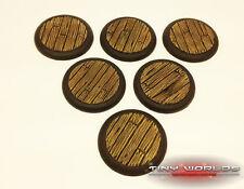 Wargames 3 x 50mm planche de bois bois bateau pirate platelage bases de résine