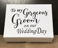 Personalised Groom Gift Box/ Groom Box/ Wedding Box