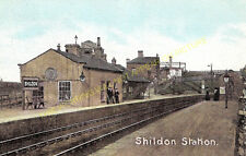Shildon Railway Station Photo. Bishop Auckland to Heighington and Stockton. (2)