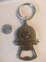 Ancient Ales Keychain Bottle Opener Bronze? Brass? Dog Fish Brewery