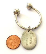 Tiffany & Co Sterling Silver Large Keychain Key Ring Horseshoe Shape With Charm