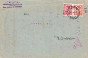 YUGOSLAVIA 1941 COVER FROM PETROVBRADU TO SRP.CRNJA