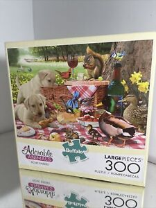 Buffalo Games -300 LARGE Piece Jigsaw Puzzle-Picnic Raiders, Dogs