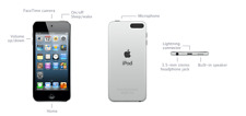 Apple iPod Touch 5th Generation ME643LL/A A1509 16GB Silver