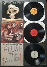 Lp Record Lot/3 Whitesnake trouble Alice Cooper flush the.. Metal Mania Vinyl