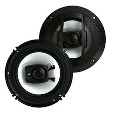 Boss R63 6.5 Inch 300W 3 Way Car Audio Coaxial 4 Ohm Stereo Speakers (Pair)