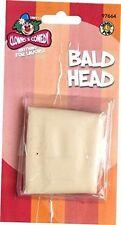Funny Fake Bald Head Skinhead Baldy Wig Cap Clown Mens Ladies Fancy Dress Party