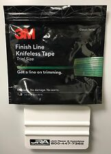 3M FINISH LINE KNIFELESS VINYL WRAP GRAPHIC CUT TAPE 10 M ROLL - WITH SQUEEGEE!