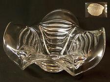 AA 1940 Cristal Val Saint Lambert grande coupe vase modèle vagues art déco neuf