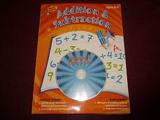 Addition & Subtraction Workbook 236 Pages With Flash Cards and CD