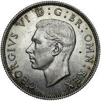 1937 FLORIN - GEORGE VI BRITISH SILVER COIN - SUPERB
