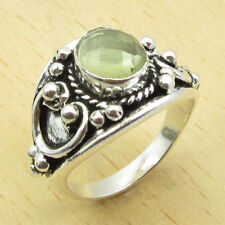925 Silver Plated Fiery LEMON QUARTZ ROYAL Ring Size UK Q 1/2 MEN'S ONLINE STORE