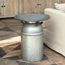 Galvanized Metal Table Milk Can Base